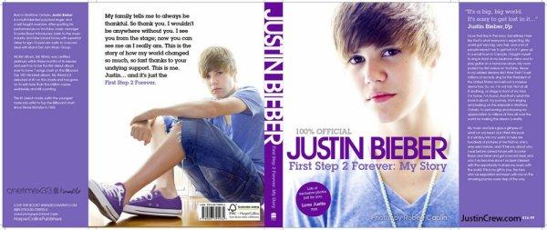 Scans du livre de Justin « Justin Bieber: First Step 2 Forever: My Story  »