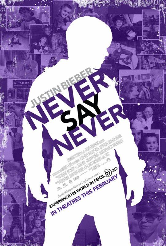 Nouveau poster pour le film Never Say Never!