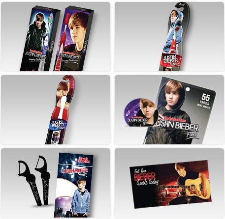 Vous avez besoin d'une nouvelle brosse a dent ? Pourquoi ne pas acheter celle de Justin Bieber !