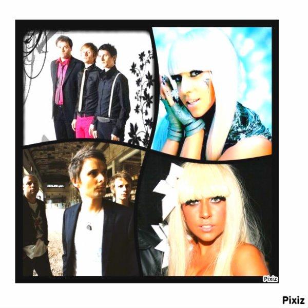 Muse & Lady Gaga en duo aux Grammy  Awards .