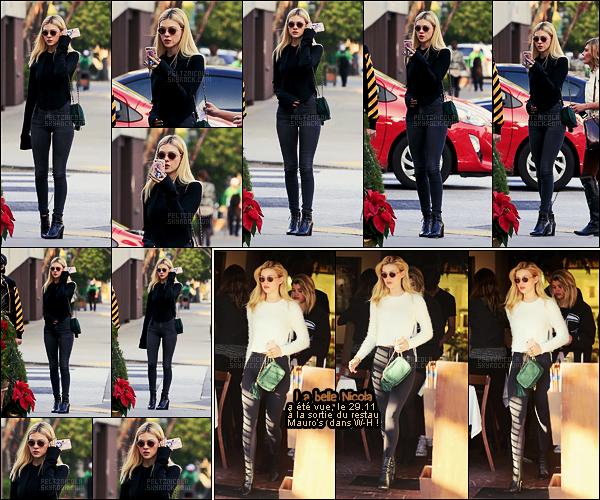 . ● L'actrice Nicola Peltz a été aperçue, le 05/12, allant déjeuner dans Beverly Hills. Top !  .