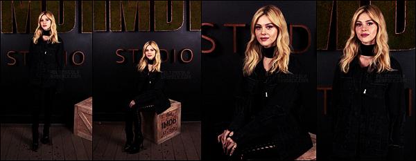 . ● Le 21/01, Nicola Peltz était aux studios d'IMDb durant le Sundance Film Festival - à Park City.  .