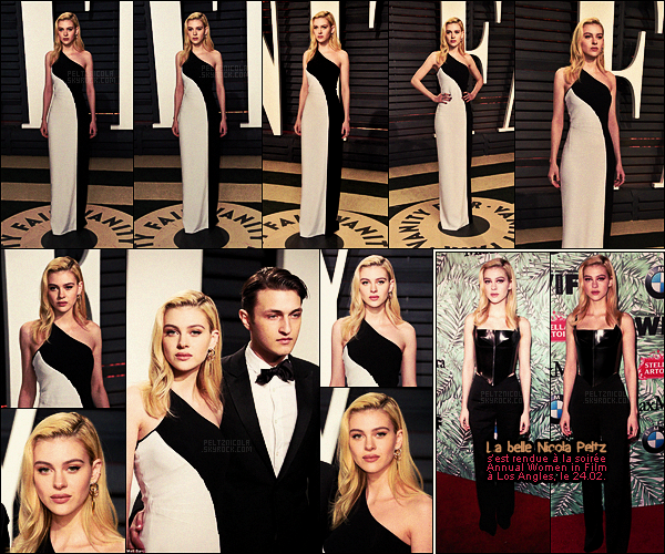 . ● Nicola Peltz s'est rendue, le 26/02, à la Vanity Fair Oscar Party qui avait lieu à Los Angeles.  .