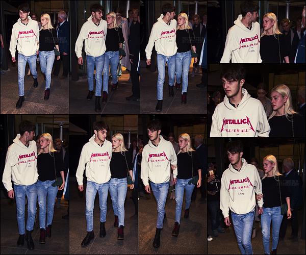 . ● Nicola Peltz et la famille Hadid vus quittant le restaurant Estiatorio Milos, le 14/04, à N-Y-C.  .