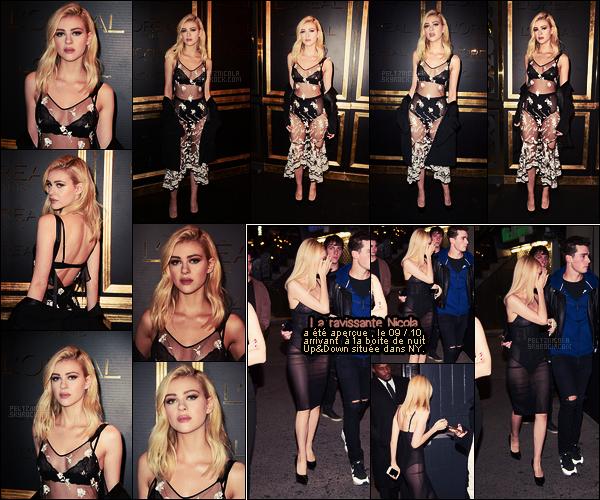 """. ● Nicola Peltz était à la soirée Gold Obsession par l'Oréal pendant la FW de Paris, le 02 oct"""".  ."""