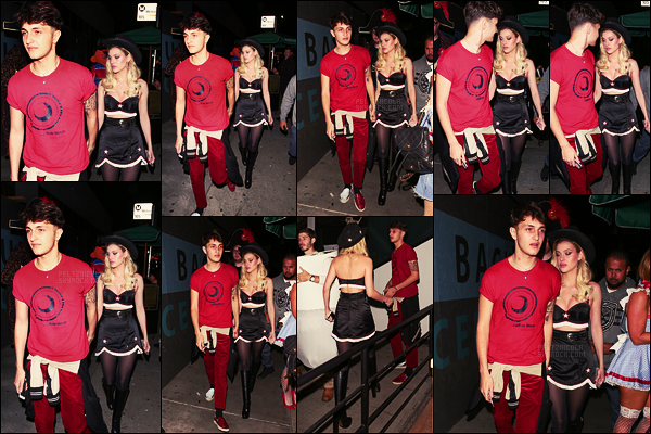 . ● Le 28/10, Nicola Peltz à la soirée d'Halloween par Matthew Morrison à West Hollywood.  .