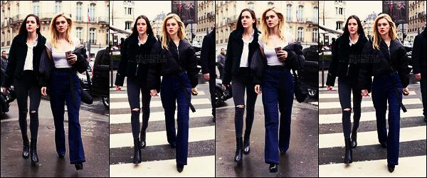 . ● Nicola Peltz a été vue se promenant dans les rues de Paris avec une amie, c'était le 02/03  .