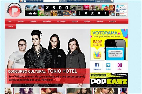 5819 ➜ Le groupe sur la page d'accueil de MTV Brésil.