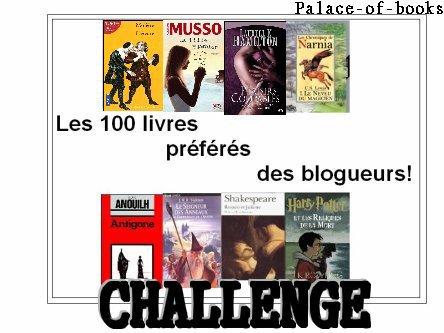 Challenge Les 100 livres préférés des blogueurs