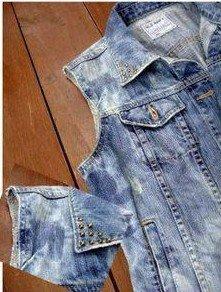 Customisation d'une veste en Jean