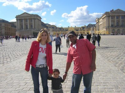in front of the palace of versailles in the first anniversary of rayhan.