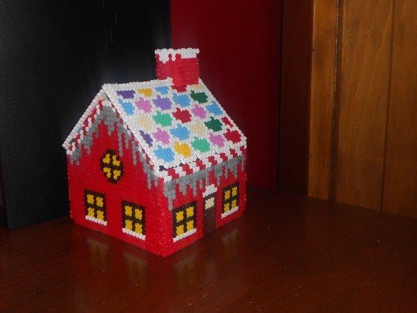 cette fois si une maison en perles hama ( 3 D )