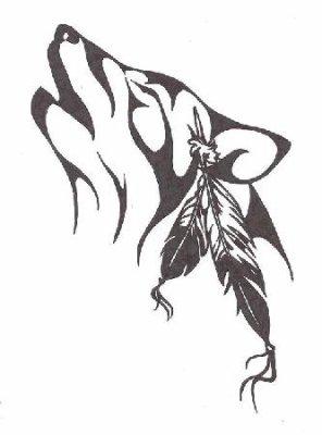 T te de loup en tribal princesse des loup - Tete de loup dessin ...