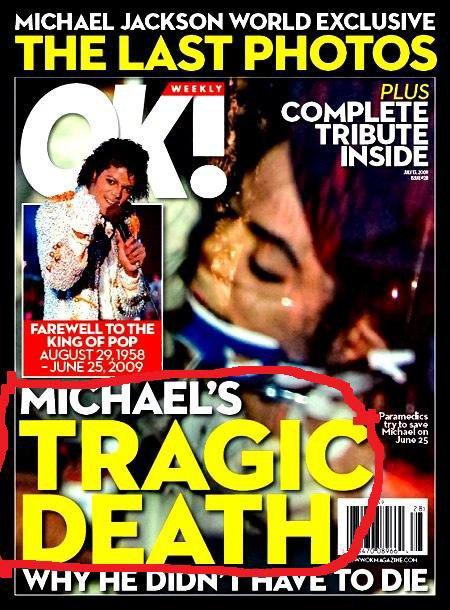 La photo officielle e Michael Jackson
