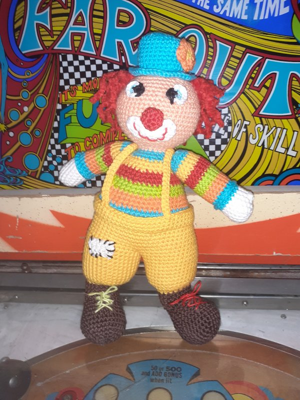 Clown au crochet