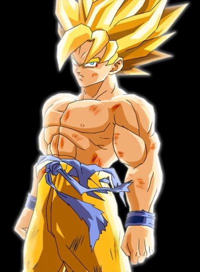 """SON GOKU, fait partit du peuple Saïyen, il est le personnage principal de la série Dragon Ball Z mais aussi de Dragon Ball et Dragon Ball GT.   Juste avant la destruction de sa planète natale, il fut envoyé sur Terre à l'aide d'un mini vaisseau spatial pour détruire cette planète, il y sera recueilli par Son Gohan (Grand père adoptif) qui le baptisera Son Gokû, il décida donc de s'en occuper et de lui enseigner les arts martiaux mais au bout de 2 années Son Gokû se transforma en monstre et tua son grand père involontairement.   Son Gokû est sans aucun doute le personnage le plus fort de Dragon Ball et Dragon Ball Z, c'est lui qui se débarrassa de tous les personnages les plus redoutables de l'univers Dragon Ball (Piccolo Daimaô, Freezer, Boo, Li Shenron. . )   Son Gokû mourra en se sacrifiant contre Cell mais ce sacrifice ne servit à rien car Cell survivra mais fut tué ensuite par Gohan le fils de Son Gokû.   Grâce à la voyante Baba, Son Gokû réapparut sur Terre pour une durée d'une journée pour participer au nouveau Tenka Ichi Budôkai et de voir son nouveau fils San Goten qu'il n'a jamais vu auparavant.   Un peu plus tard Son Gokû élimina le monstre le plus puissant de Dragon Ball Z """"Boo"""" à l'aide du Super Genkidama.  Ce fût le dernier grand combat de Dragon Ball Z  On retrouvera notre ami Son Gokû dans la série Dragon Ball GT mais cette fois ci il retrouvera son apparence d'enfance à cause du retour Pilaf qui exauça le voeu """"Si seulement il était encore petit... """" Pour retrouver son apparence normale il devait trouver les Dragon Balls qui se sont éparpillés dans tout l'univers.  Il partit avec Trunks et Pan (sa petite-fille) à la recherche des Dragon Balls mais de grosses surprises les attendaient...    Les Différentes transformations de Son Gokû :   Son Gokû en état normal :     Son Gokû utilisant la technique du Kaïoken :     Son Gokû SSJ1 :     Son Gokû SSJ2 (Pas de grande différence avec la précédente) :     Son Gokû SSJ3 (Seul lui sait la pratiquer) :     Son"""