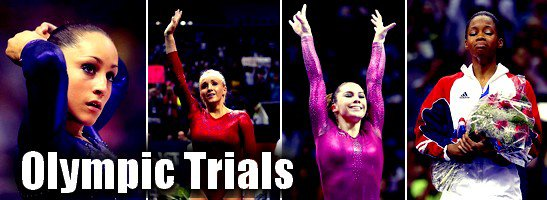 Olympic Trials US - Jordyn, Gabby, Aly, Mckayla & Kyla ♥