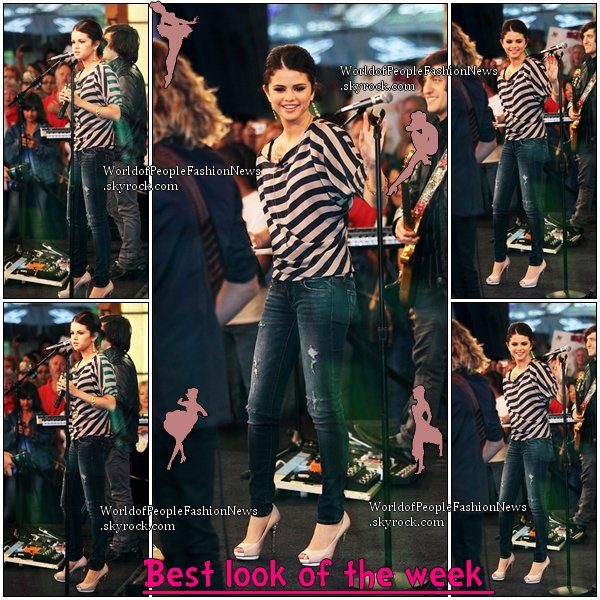 Coup de ♥ Musical. .................................................................................................................................................  La tenue de la semaine est celle de :Selena Gomez a Good Morning America le  23/09/10 :  ................................................................................................................................................. Coup de ♥ Musical.