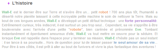 Article 10 - Walt Disney : Wall-E
