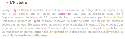 Article 20 - Walt Disney : Raiponce