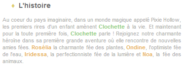 Article 24 - Walt Disney : La Fée Clochette