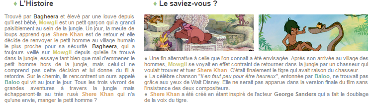 Article 60 - Walt Disney : Le livre de la jungle