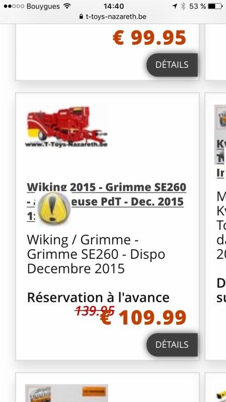 Grimme Wiking: idée de prix ...