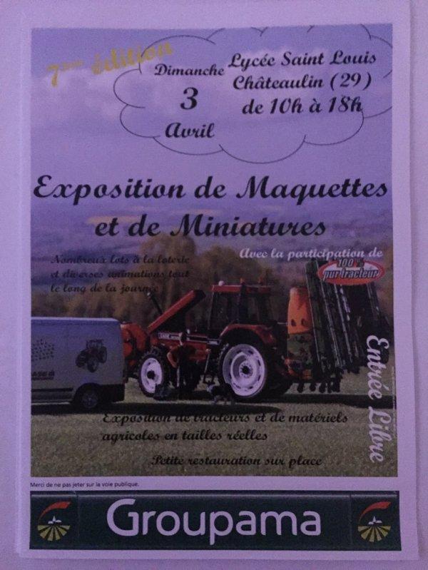 Expo de Chateaulin: 3 avril