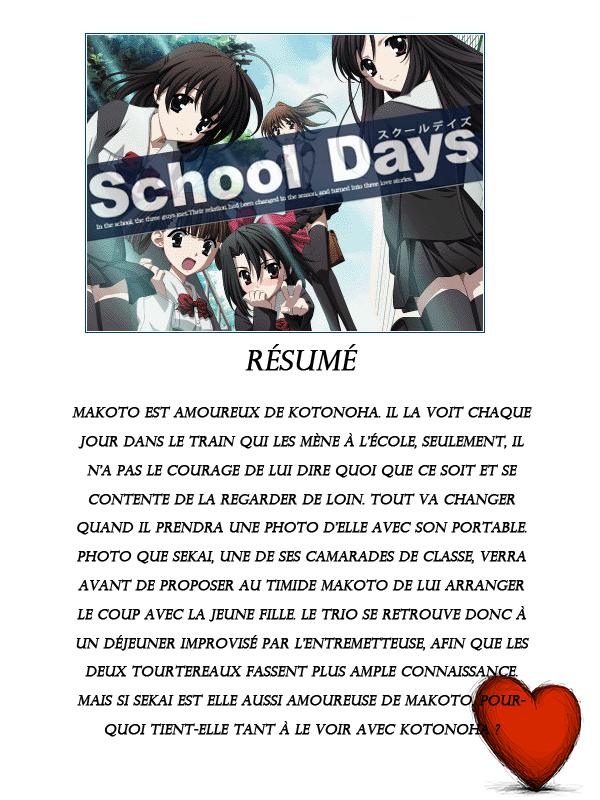 Présentation de School Days