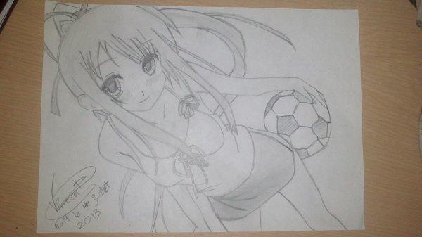 Dessin  concours de  swann-manga! J'ai fini 10ème ...........(-_-;)