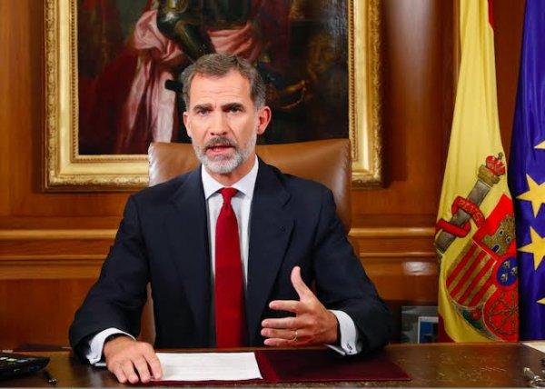 Felipe VI[N 1], en français Philippe VI, né le 30 janvier 1968 à Madrid, est le roi d'Espagne depuis le 19 juin 2014. Il est le troisième enfant et seul fils de Juan Carlos Ier et de Sophie de Grèce.