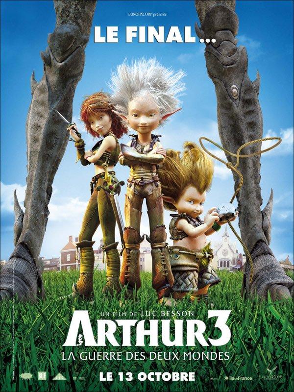 """""""Arthur 3 : la guerre des deux mondes """" actuellement en DVD !"""