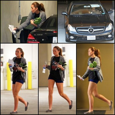 Le 21 Février 2011nOtre BelLe Miley s'est rendue à son cour de Danse. PLùtÖt TOP ou FLOP ?MoOii je Diiraii TOP &FLOP àvec sOn Short, sOn T-shirt & sOn pull Qui ne sOnt pàs Terrible, maiis sà Peùù àllé ! & vOùùs Qu'en pensez-vOus ?