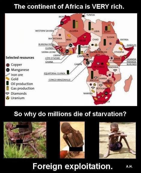 Le continent Africain est très riche ! qui exploite la misère ?