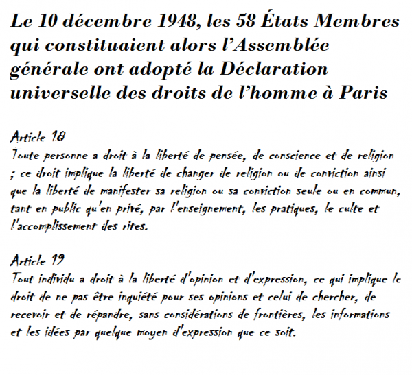 Déclaration universelle des droits de l'homme 1948