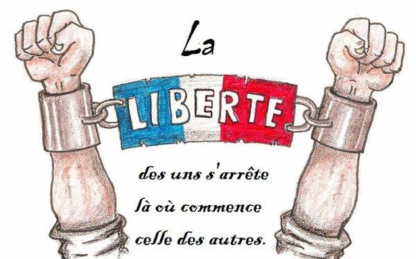 La liberté des uns s'arrête là où commence celle des autres
