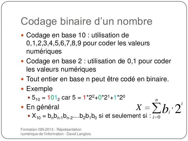 Codage Binaire