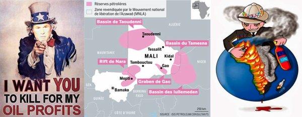 Guerre pour le contrôle de -uranium-pétrole- au Mali