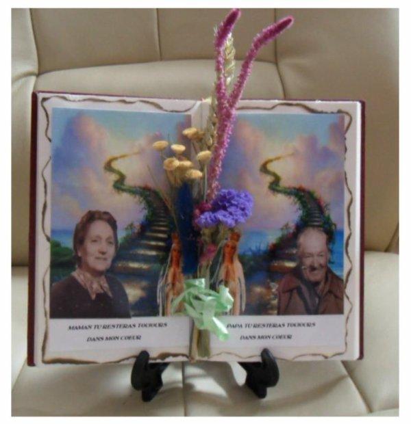 Très joli livre décoré avec montage