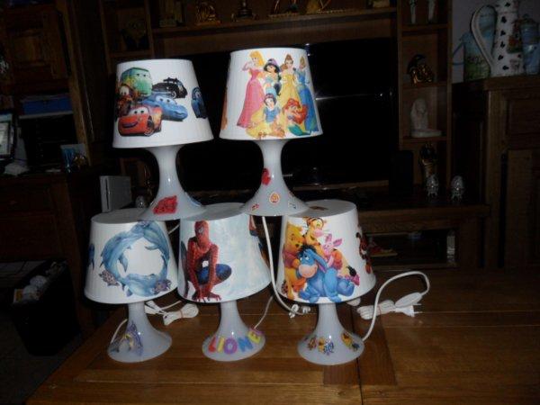 Ensemble de lampes DECOREES TOUS STYLES