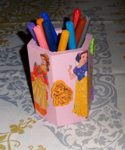 Pot a crayon PRINCESSE 10 EUROS