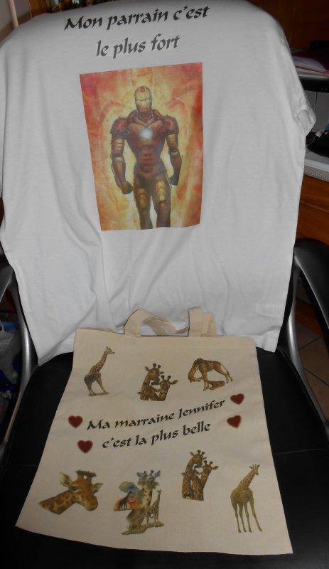 Tee shirt personnalisé et sac personnalise pour CELINE