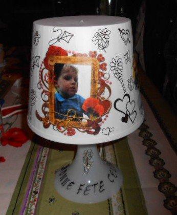 LAMPE FAITES AVEC MONTAGE ET PHOTOS PERSONNELLES 10 E
