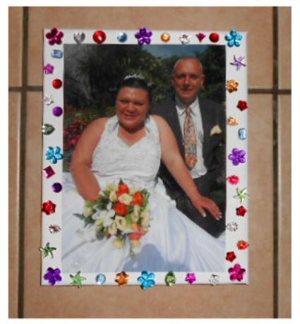 SOUVENIR D'UN MARIAGE D'UN TABLEAU SUR TOILE 20 X 30  15 E