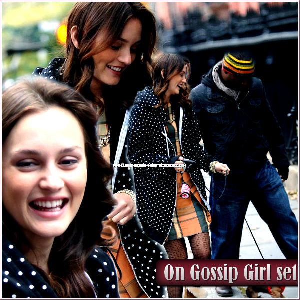 .  15 et 18/10/10 : Leighton était sur le set de GG saison 4.   Sur ces 2 jours, Leighton avait porté la même tenue à part le manteau qui n'est pas pareil. (voir photos)  .