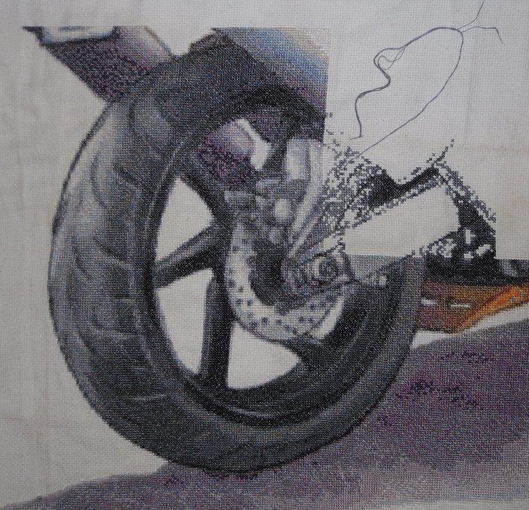 Avancée sur la moto