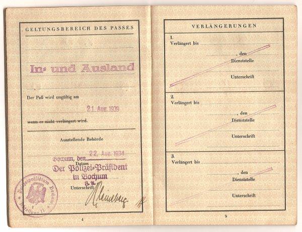 Le 22.08.1934 mon Arrière Grand Père se fait établir son Passeport en changeant l'écriture de notre nom de famille de peur d'être confondu avec les Juifs .