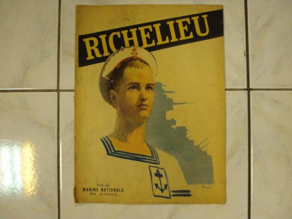 Pour mes amis les français voici se que j'ai trouvé au  marché le samedi matin a 9 heures ,Je vous présente votre ancien fleuron de la marine Nationale le cuirassé le ,,,''' RICHELIEU ''',