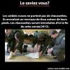 Saviez-vous cela sur les soldats ?