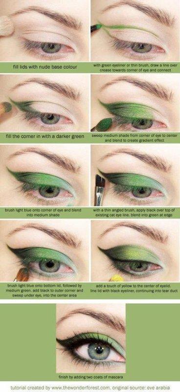 Maquillage Vert Tutorial ♥